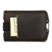 Trayvax Ascent Wallet (Raw Metal/Mississippi Mud Leather) - Back View
