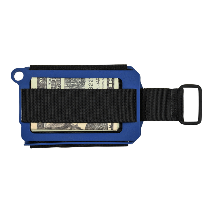 Trayvax Axis Wallet (Cobalt Cerakote) - Back View