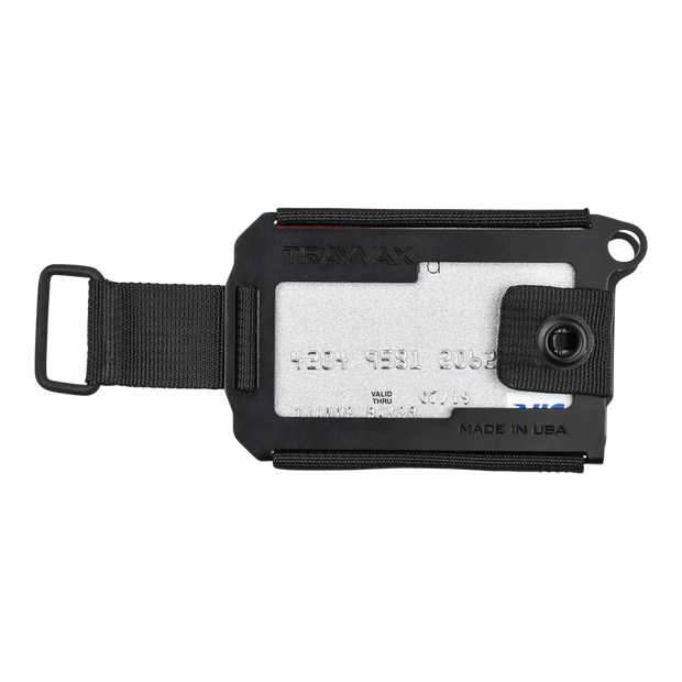 Trayvax Axis Wallet (Onyx Black Melonite) - Front View