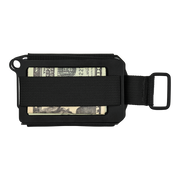 Trayvax Axis Wallet (Onyx Black Melonite) - Back View