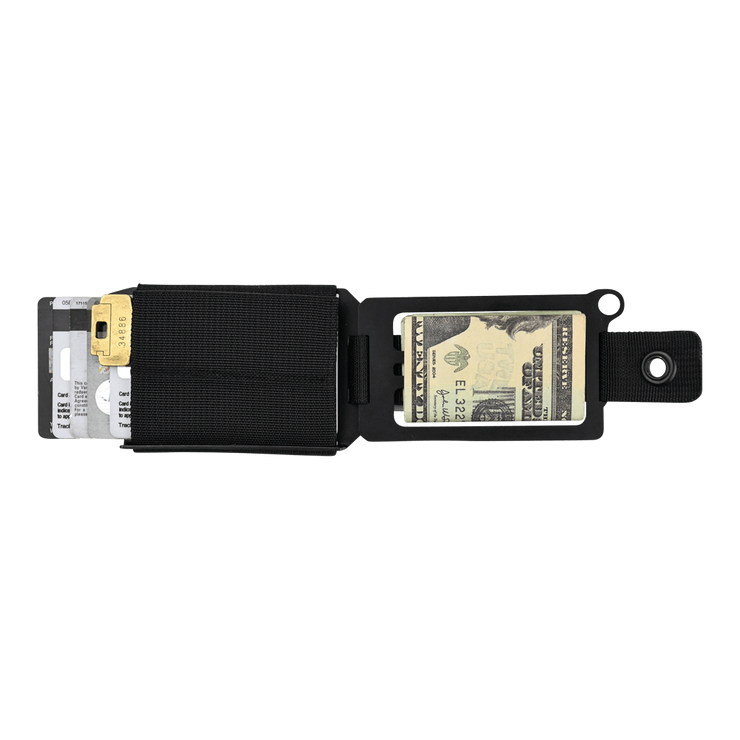 Trayvax Axis Wallet (Onyx Black Melonite) - Open View