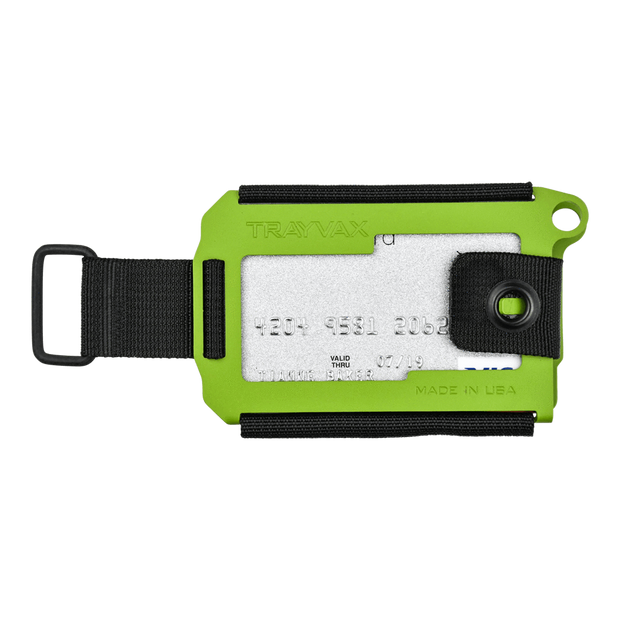 Trayvax Axis Wallet (Zombie Green Cerakote) - Front View