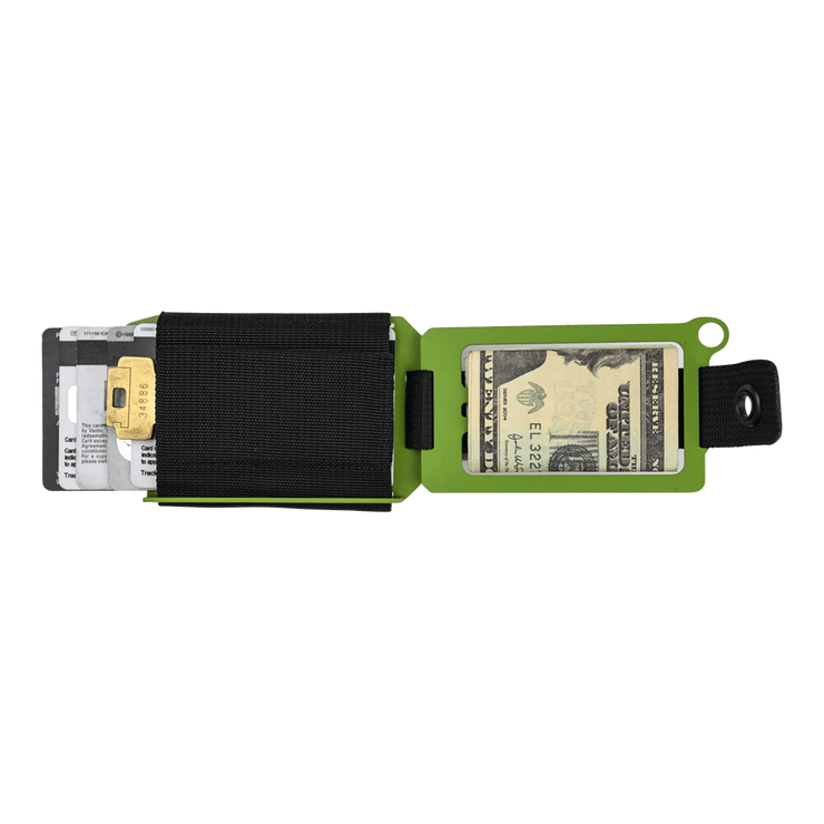 Trayvax Axis Wallet (Zombie Green Cerakote) - Open View