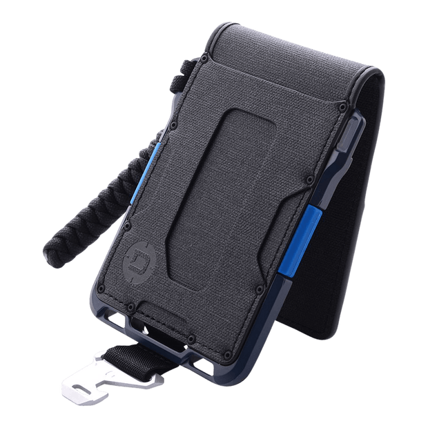 Dango M1 Maverick 4 Pocket Bifold Spec-Ops Special Edition Wallet (Blueline) - Angled View