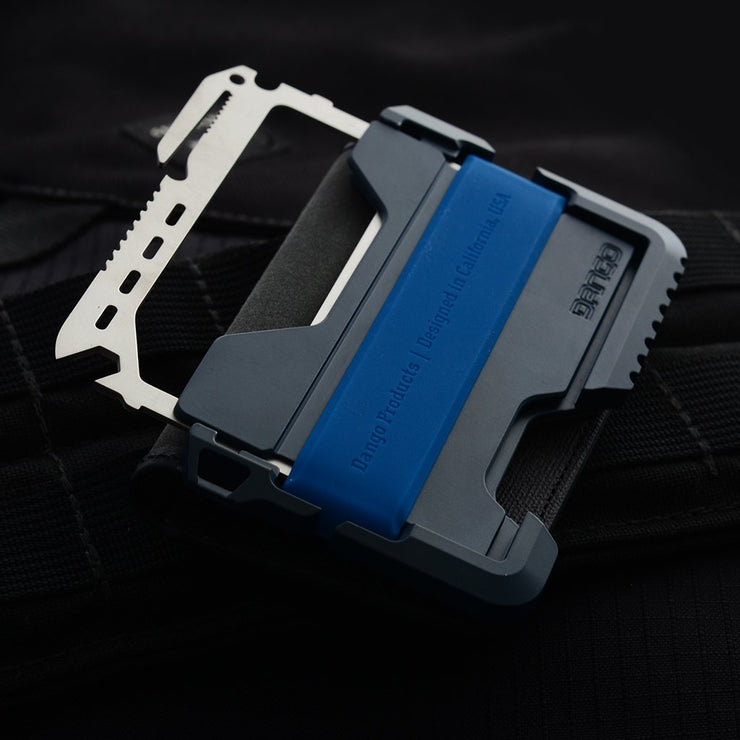 Dango T01 Tactical Bifold Spec-Ops Special Edition Wallet (Blueline) - MT02 Multi Tool Fitted