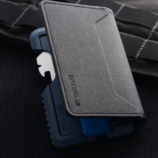 Dango T01 Tactical Bifold Spec-Ops Special Edition Wallet (Blueline) - Aerospace Grade Aluminium