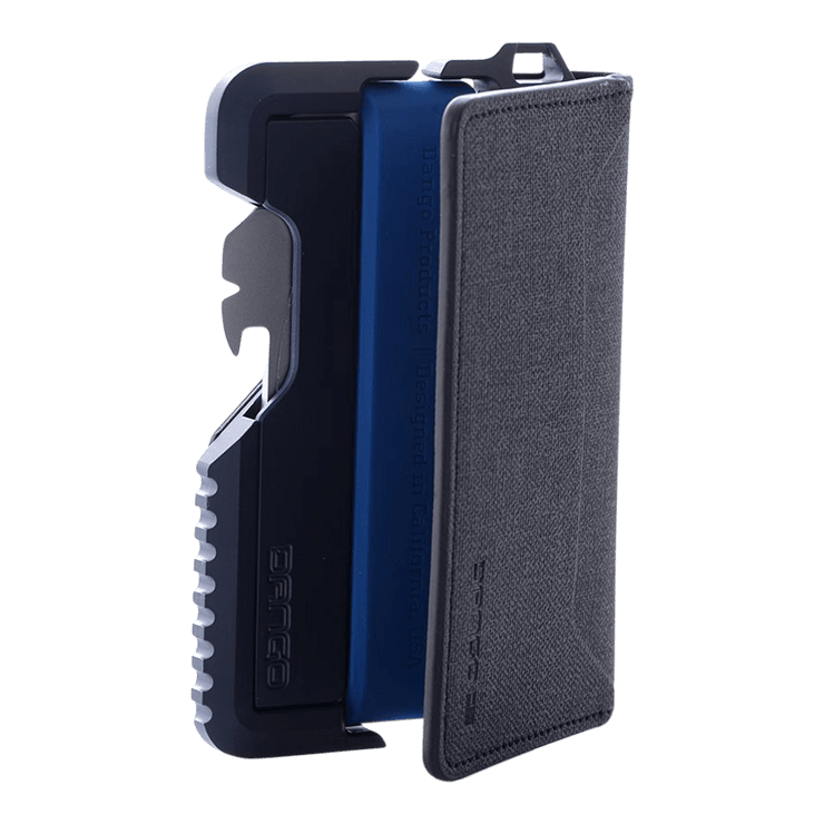 Dango T01 Tactical Bifold Spec-Ops Special Edition Wallet (Blueline) - Built In Loop Hole