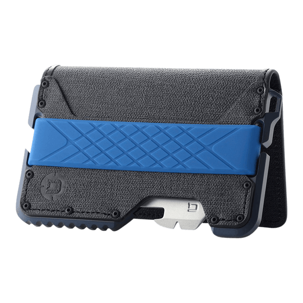 Dango T01 Tactical Bifold Spec-Ops Special Edition Wallet (Blueline) - Angled View