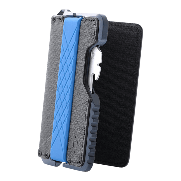 Dango T01 Tactical Bifold Spec-Ops Special Edition Wallet (Blueline) - Silicone Band