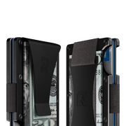 The Ridge Aluminium Cash Strap & Money Clip Wallet (Black) - Cash Strap & Money Clip