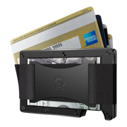 The Ridge Aluminium Cash Strap & Money Clip Wallet (Black) - Cash Strap