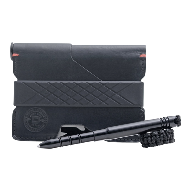 Dango P01 Pioneer Wallet & Dango Pen (Jet Black) - Cash Strap