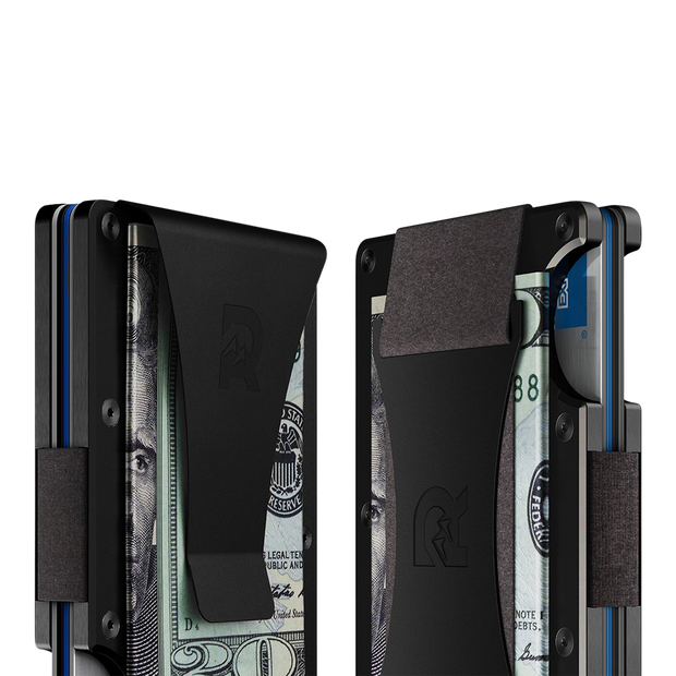 The Ridge Titanium Cash Strap Wallet (Black) - Cash Strap & Money Clip