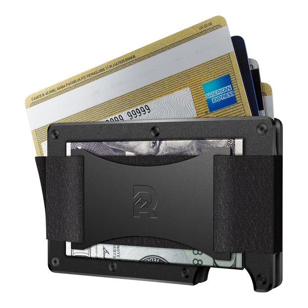 The Ridge Titanium Cash Strap Wallet (Black) - Cash Strap