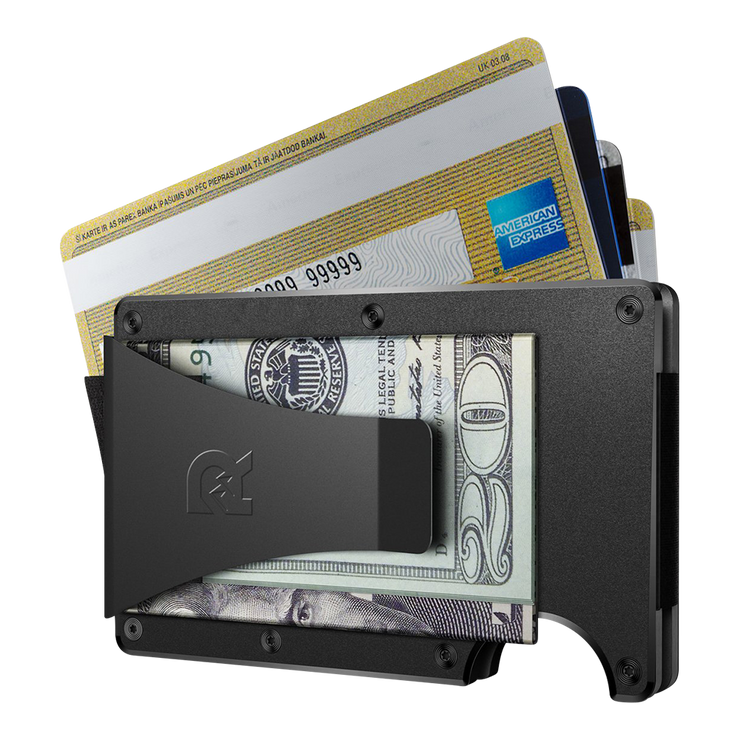 The Ridge Titanium Money Clip Wallet (Black) - Money Clip