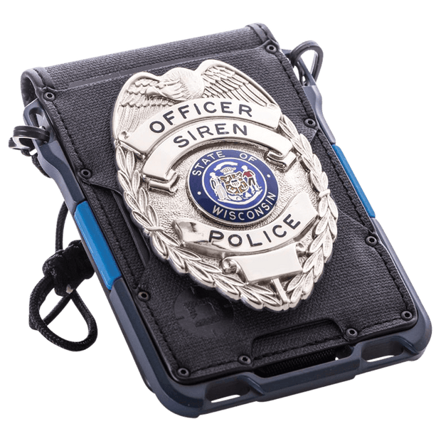 Dango M1 Maverick 4 Pocket Bifold Spec-Ops Special Edition Wallet (Blueline) - Neck Lanyard & Badge Holder