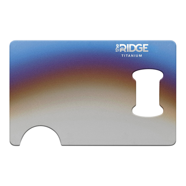The Ridge Titanium Bottle Opener (Burnt) - Front View