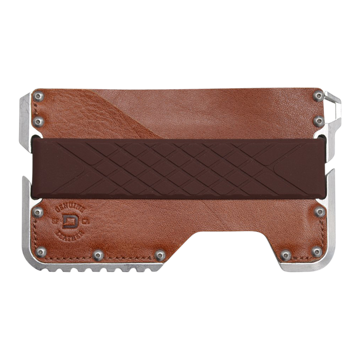 Dango Silicone Wallet Band (Brown) - Wallet View