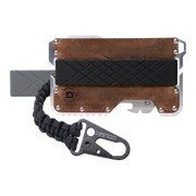 Dango T01t Tactical Wallet Bundle (Brown Raw Hide) - Complete View