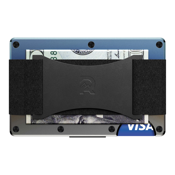 The Ridge Titanium Cash Strap & Money Clip Wallet (Burnt) - Cash Strap Back View