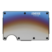 The Ridge Titanium Cash Strap & Money Clip Wallet (Burnt) - Front View
