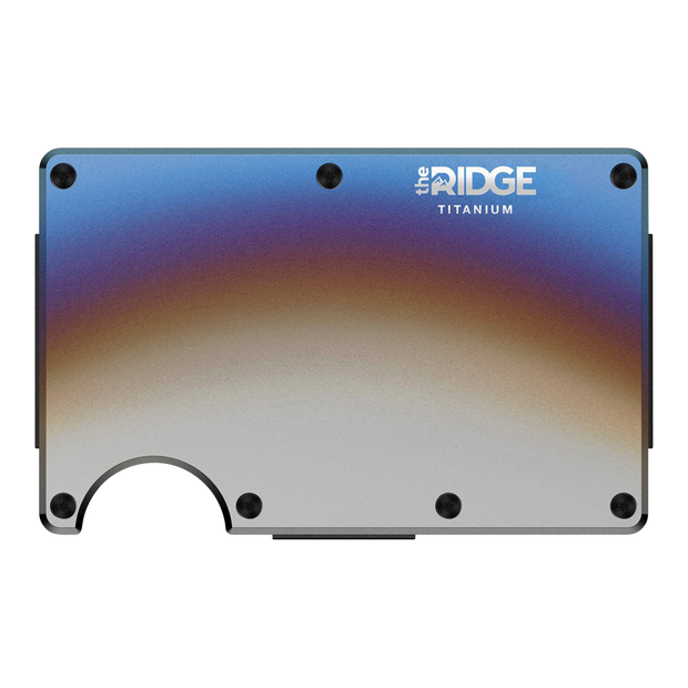 The Ridge Titanium Cash Strap Wallet (Burnt) - Front View