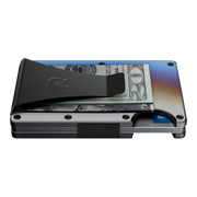 The Ridge Titanium Money Clip Wallet (Burnt) - Side View