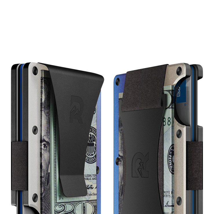 The Ridge Titanium Cash Strap & Money Clip Wallet (Burnt) - Cash Strap & Money Clip
