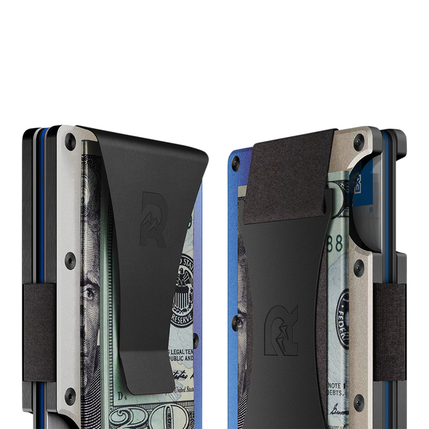 The Ridge Titanium Cash Strap Wallet (Burnt) - Cash Strap & Money Clip