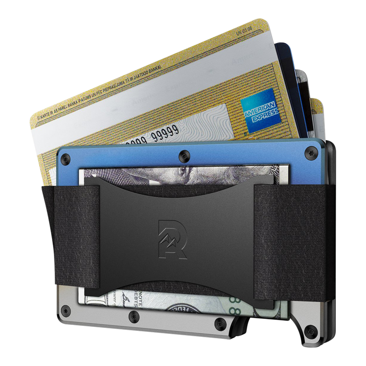 The Ridge Titanium Cash Strap & Money Clip Wallet (Burnt) - Cash Strap