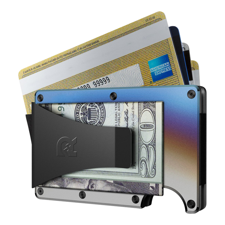 The Ridge Titanium Cash Strap & Money Clip Wallet (Burnt) - Money Clip