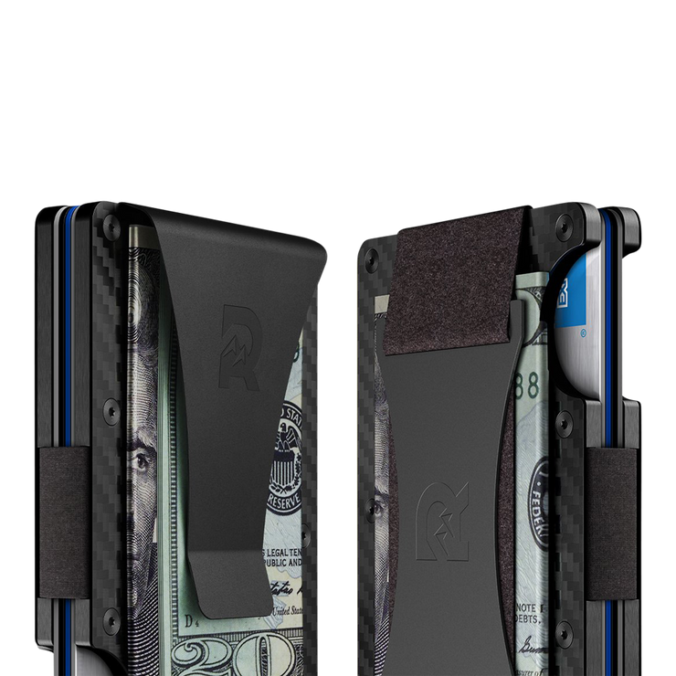 The Ridge Carbon Fibre 3K Cash Strap Wallet  - Cash Strap & Money Clip