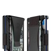 The Ridge Carbon Fibre 3K Money Clip Wallet  - Cash Strap & Money Clip