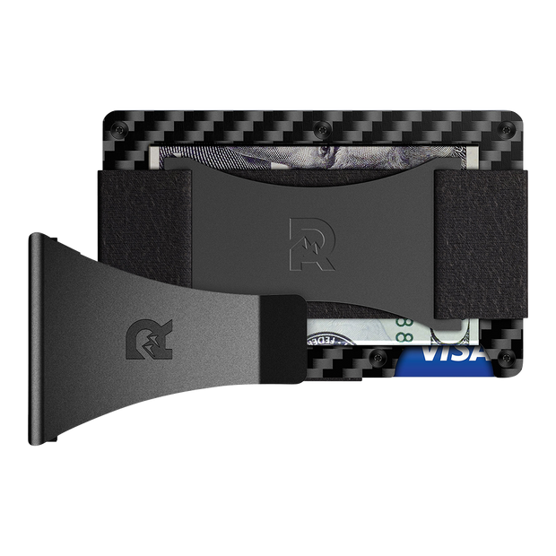 The Ridge Carbon Fibre 3K Cash Strap & Money Clip Wallet - Bundle View