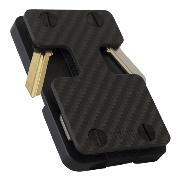 Liquid Carry Carbon Fibre Wallet (Black Screws) - Front View
