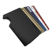 The Ridge Carbon Fibre 3K Money Clip Wallet  - Cards Fanned
