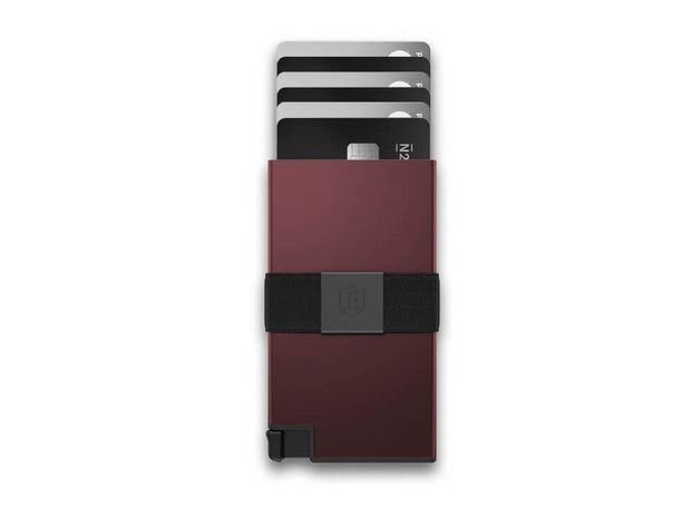 Ekster Aluminium Card Holder Wallet (Redwood) - Cards Fanned