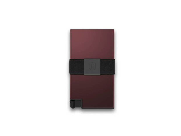 Ekster Aluminium Card Holder Wallet (Redwood) - Front View