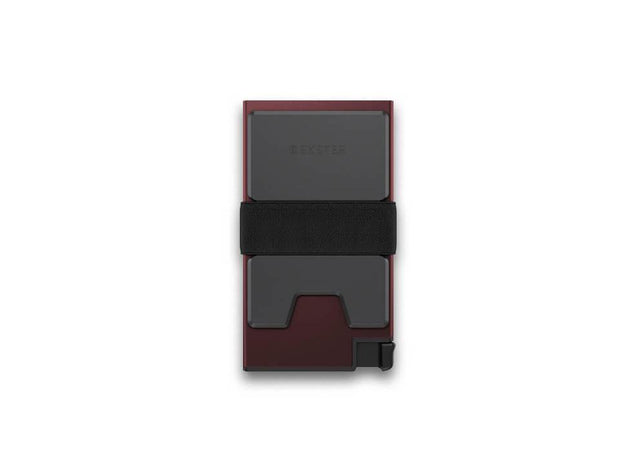 Ekster Aluminium Card Holder Wallet (Redwood) - Back View