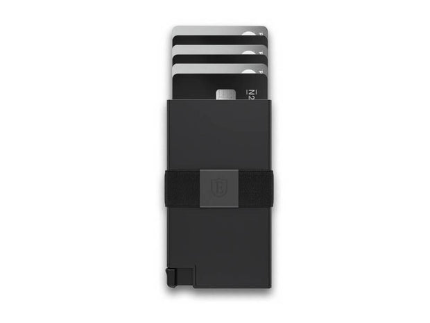 Ekster Aluminium Card Holder Wallet (Matte Black) - Cards Fanned
