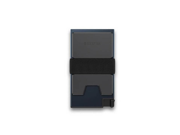 Ekster Aluminium Card Holder Wallet (Midnight Blue) - Back View