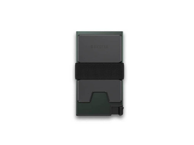 Ekster Aluminium Card Holder Wallet (Green Ore) - Back View