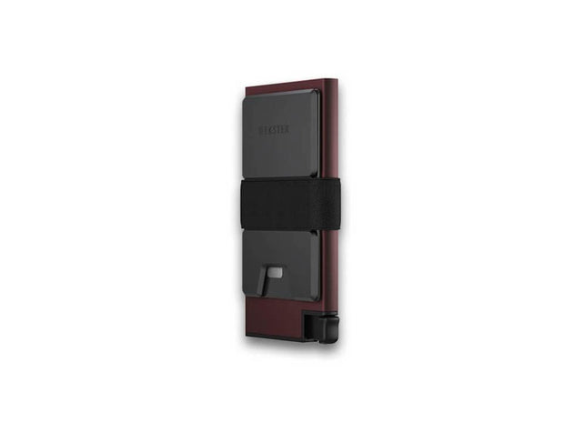 Ekster Aluminium Card Holder Wallet (Redwood) - Cash Strap