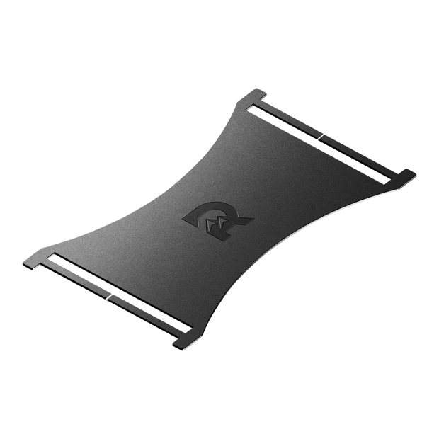 The Ridge Cash Strap Plate (Black) - 6061-T6 Anodised Aerospace Grade Aluminium