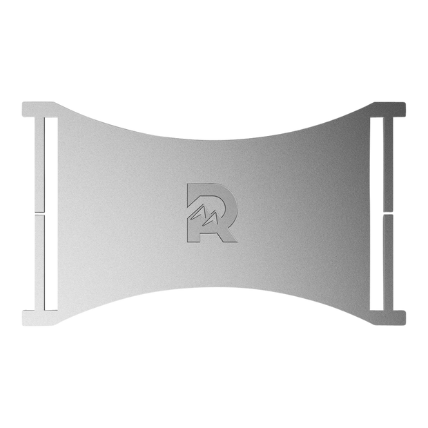 The Ridge Cash Strap Plate (Silver) - Front View