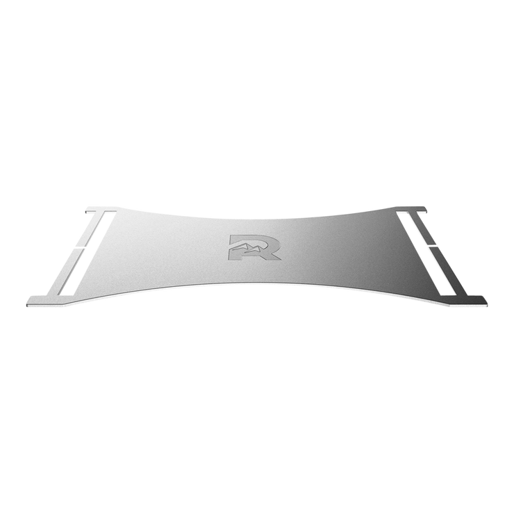The Ridge Cash Strap Plate (Silver) - Side View