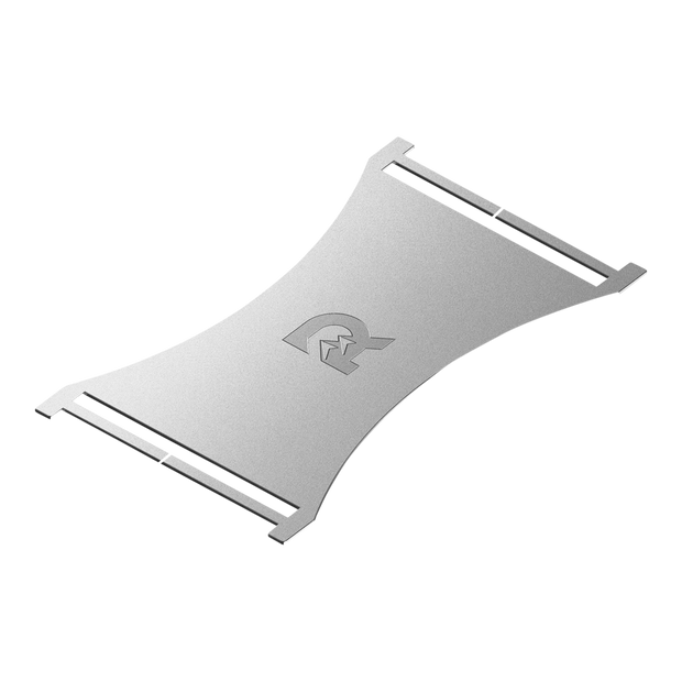The Ridge Cash Strap Plate (Silver) - 6061-T6 Anodised Aerospace Grade Aluminium