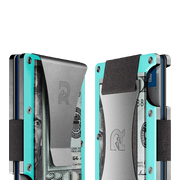 The Ridge Aluminium Cash Strap Wallet (Celeste) - Cash Strap & Money Clip