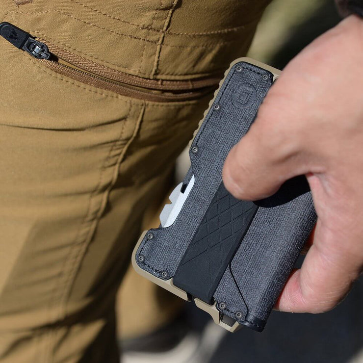 Dango T01 Tactical Bifold Spec-Ops Wallet (Desert Sand) - Built In Loop Hole