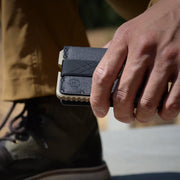Dango T01 Tactical Bifold Spec-Ops Wallet (Desert Sand) - In Use